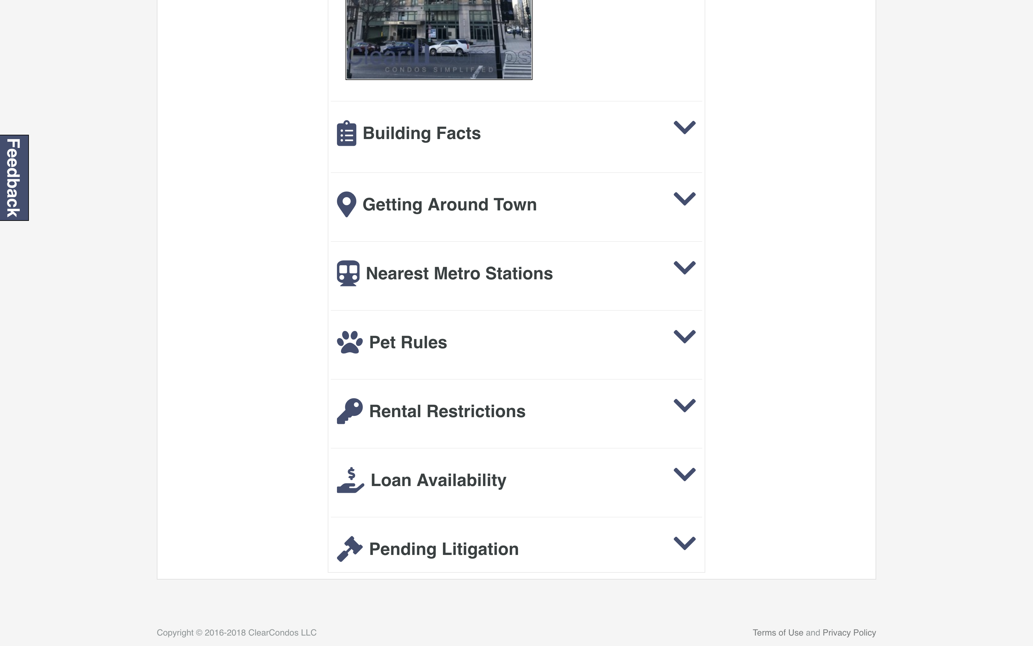 Association details content categories