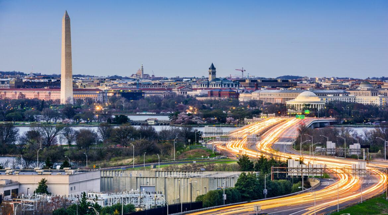 Washington, DC Cityscape with Monuments
